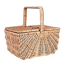 image of Household Essentials® Dorothy Market Picnic Basket with Fixed Handle