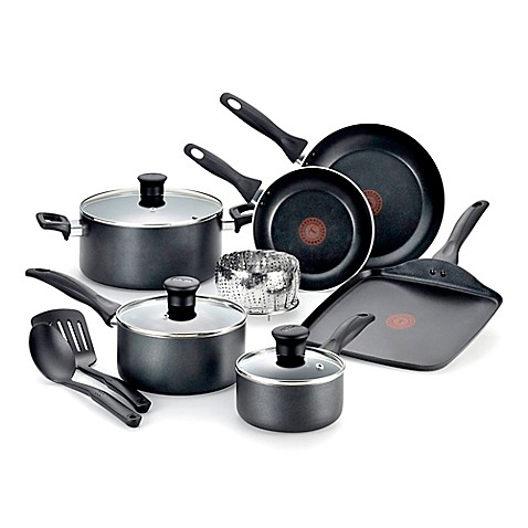 buy t fal pure cook nonstick aluminum 12 piece cookware set from bed bath beyond. Black Bedroom Furniture Sets. Home Design Ideas