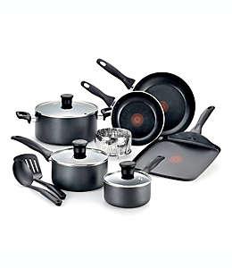 Batería de cocina antiadherente de aluminio, Pure Cook T-Fal® 12 pzas.
