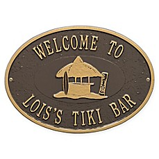 image of Whitehall Products Tiki Hut Indoor/Outdoor Wall Plaque