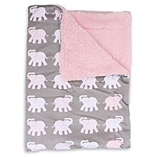 image of Thro Bazaar Elephants Mircomink Baby Throw Blanket