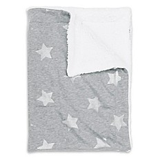 image of Thro Sophia Foil Stripe Stars Jersey Baby Throw