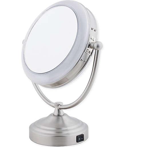 Floxite Daylight 1x 10x Cosmetic Mirror, Floxite 10x Lighted Folding Travel Mirror