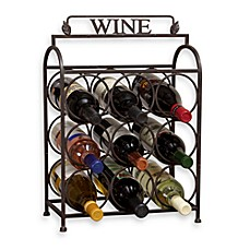 Image Of Vintage 9 Bottle Wine Rack