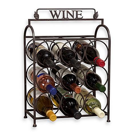 Vintage 9 Bottle Wine Rack Bed Bath Amp Beyond