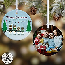 image of Reindeer Family Character Christmas Ornament