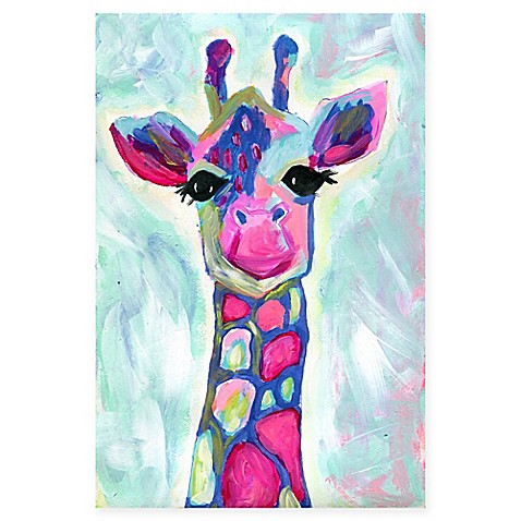 Marmont Hill Colorful Giraffe Canvas Wall Art - Bed Bath & Beyond
