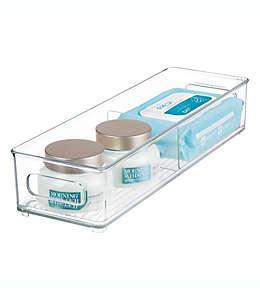 Contenedor para baño de plástico iDesign® con divisiones