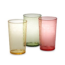 image of Etched Colored 24-Ounce Tumblers (Set of 6)
