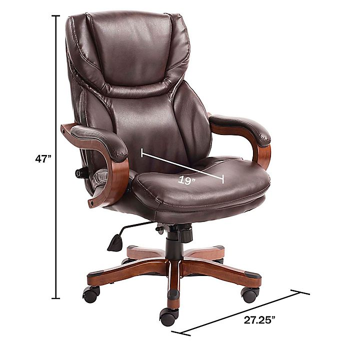 Serta Big And Tall Bonded Leather Executive Chair Bed Bath Beyond