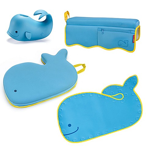 SKIP*HOP® Moby 4-Piece Bathtime Essentials Kit in Blue - buybuy BABY