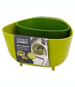 Set de coladores en verde, Nest™ Joseph Joseph® 2 piezas