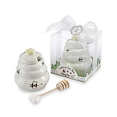 image of Kate Aspen® Honey Pot with Wooden Dipper Baby Shower Favor