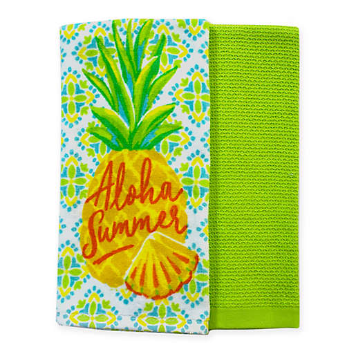 Summer Pineapple Kitchen Towels Set Of 2 Bed Bath Beyond