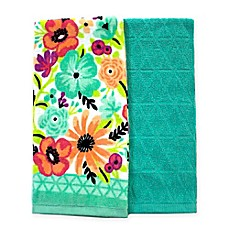 Exceptionnel Summer Floral Kitchen Towels (Set Of 2)