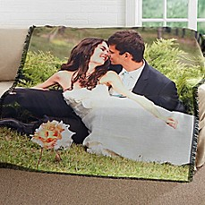 image of Picture It! Wedding Woven Throw Blanket