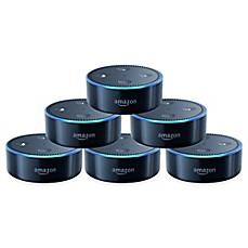 image of Amazon 6-Pack 2nd Generation Echo Dot