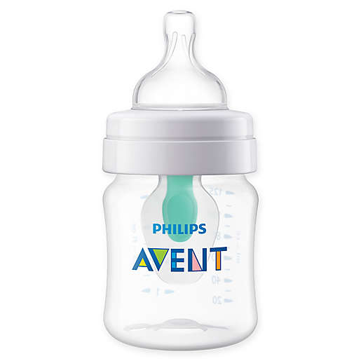 Girl inserts bottle Philips Avent 4 Oz Wide Neck Anti Colic Bottle With Insert Buybuy Baby