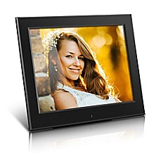 image of Aluratek 8-Inch Slim Slideshow Digital Photo Frame in Black