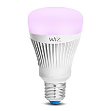 image of WIZ Colors 1-Pack 60-Watt A-Type LED Wifi Smart Connect Bulb in Multi