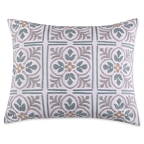 Levtex Home Sherie Tile Medallion Oblong Throw Pillow in Grey - Bed Bath & Beyond