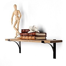 image of Danya B.™ Pine Shelf with Metal Brackets