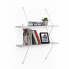 image of Danya B.™ Two-Level White Shelving System