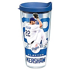 image of Tervis® MLB Los Angeles Dodgers Clayton Kershaw 24 oz. Wrap Tumbler with Lid