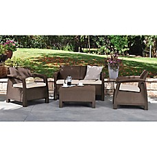 Keter Corfu 4 Piece Patio Conversation Set