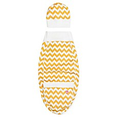 image of Cozy Cocoon® Chevron Swaddle and Hat Set in Yellow