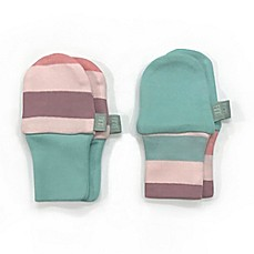 image of Finn by Finn + Emma® 2-Pack Organic Cotton Striped Mittens in Blue/Pink