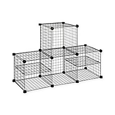 image of Grid Wire Modular Shelving and Storage Cubes