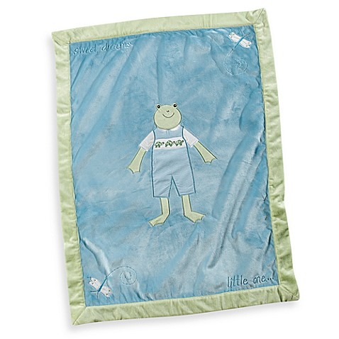 Pickles® Hattie Boy Frog Blanket in Blue