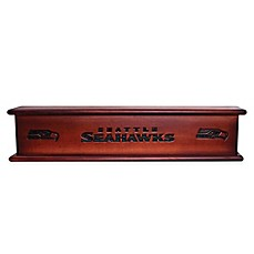 image of nfl seattle seahawks 20inch memorabilia shelf in brown