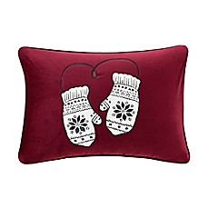 image of madison park sweet holiday mittens oblong throw pillow