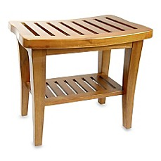 image of Teak Wood Shower Bench