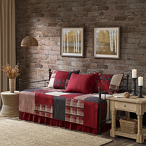 Buy Woolrich 174 Sunset Reversible Daybed Cover Set In Red