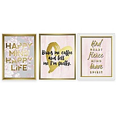 Linden Ave Blush Inspirational Wall Décor Collection