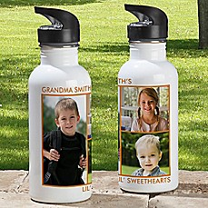 image of 3-Photo 20 oz. Water Bottle