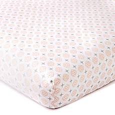 image of Levtex® Baby Skylar Coin Medallion Fitted Crib Sheet in Blush