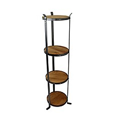 image of Enclume® 4-Tier Unassembled Round Stand in Hammered Steel