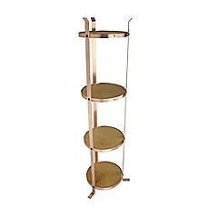 image of Enclume® 4-Tier Unassembled Round Stand in Brushed Copper