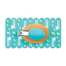 image of Rhoost™ Baby Nail Clipper and 10-Pack Emery Board Set in Teal