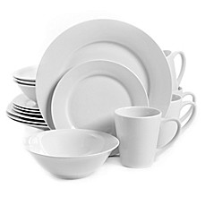 image of Gibson Home Noble Court 16-Piece Dinnerware Set in White