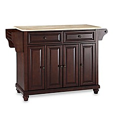 image of Crosley Cambridge Wood Top Kitchen Island