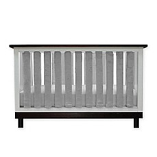 image of Go Mama Go Designs® Pure Safety Minky Vertical Crib Liners in Grey