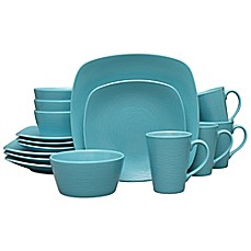 baum tangiers 16 piece dinnerware set in turquoise | Bed Bath & Beyond