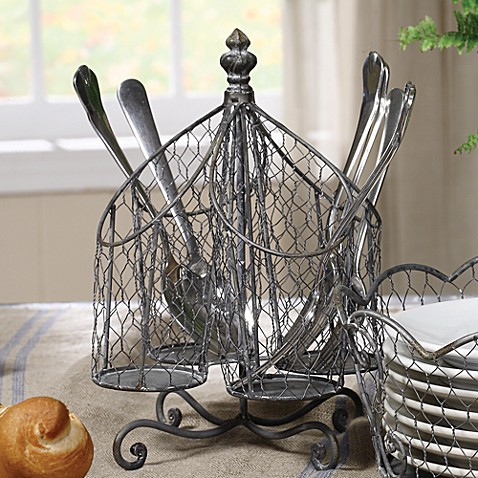 Buy Spinning Wire Utensil Holder From Bed Bath Amp Beyond