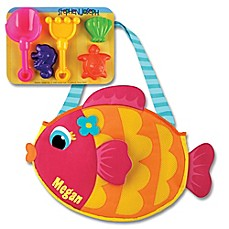 image of Stephen Joseph® Fish Beach Tote with Sand Toys