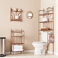 image of Southern Enterprises 3-Piece Scroll Bath Set in Warm Copper